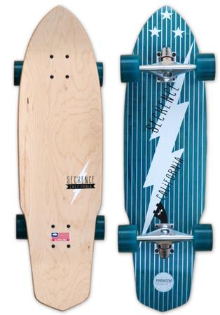 Skateboards - Seckence Skateboard Cruiser - Bolt Complete