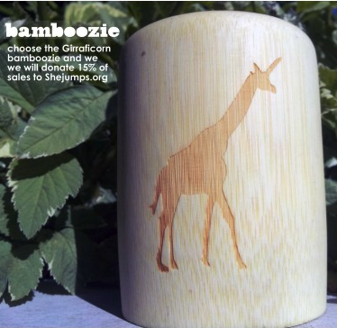 Bamboo Beer Koozies :: She Jumps Edition (fits 12oz cans)